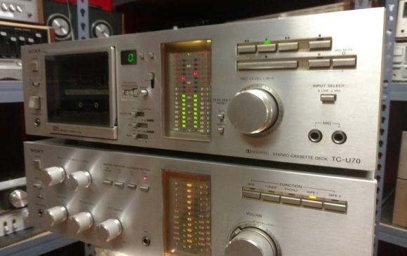 Sony TA-636 Stereo Amplifier/TC-U70 Cassette Deck